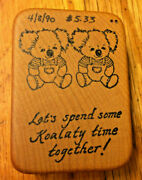 Koala Bear Twins Rubber Stamp Valentines Day Koalaty Time Together Comotion Rare