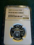 2007 W Eagle 1/2 Ounce Certified Platinum Pf 69 Ultra Cameo By Ngc