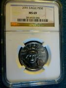 2001 Eagle 1/2 Ounce Certified Platinum Ms 69 By Ngc World Trade Center 911