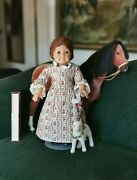 American Girl Pleasant Company Felicity Germany Tags Red Hair Green Eyes Purse S