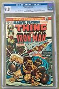 Marvel Feature 12 Cgc 9.8 -- White Pages Last Issue Thing Iron Man Thanos