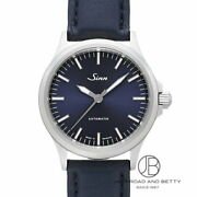 Sinn 556.i.b Automatic Winding Menand039s Watch Stainless Steel Leather Black Blue