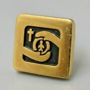 Vintage 10k Gold Signed Tradition Cross Tie Tack Pin Men Costume Jewelry Gt13