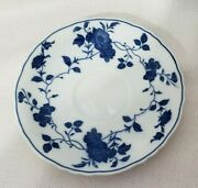 Royal Meissen Fine China Of Japan Saucer Blue White Floral Pattern Replacement