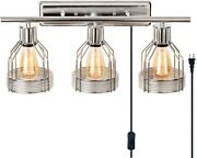 Bathroom Vanity Light Fixture Modern Sconce Chrome Wall Contemporary Plug In New