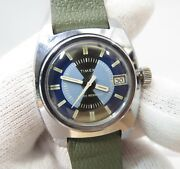 Timex Manual Windmid-sized Unique Rare Dial Same Era Band Menand039s Watch1129