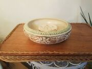 Roseville Pottery Donatello Large Console Bowl And Frog 55-8
