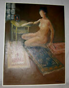 Original  Oil Painting Of A Nude Woman By Dale E. Landsman