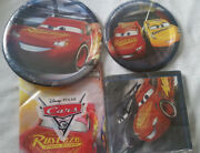 Disney Cars 3 9 And 7 Plates Napkins Tablecloth Party Pack For 8 33 Pieces New