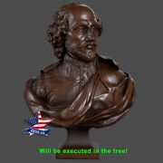 ❤️️william Shakespeare❤️️wood Carved Sculpture Statue Figure Art Picture Icon