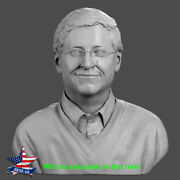 ❤️️bill Gates❤️️wood Carved Sculpture Statue Figure Artwork Picture Icon