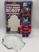 Vintage Arco Preschool Take Apart Robot Toy Figure Screw Together Build Up Toy
