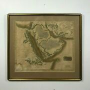 C. 1816 Antique Map Of Arabia Middle East Great Detail Mecca Medina J. And Menzies