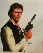 Harrison Ford Signed Huge Autograph Han Solo Indy 30x40 Canvas Photo Bas Coa 1f