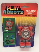 Vintage Roulette Robot Toy Transformer Play Robots 1980's Made In Taiwan Moc