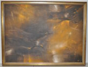 Swallows Five Mid Century Modern Abstract Painting By Monte C.1950