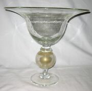 Huge Pairpoint Art Glass Bowl  15 Tall