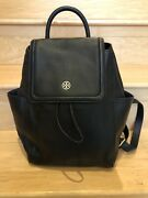 Landon Flap Backpack Black Pebbled Leather Nwt Sold Out Discontinued