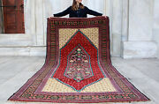 Antique Rug Handmade Rug Vintage Carpet Caucasian Rug Area Rug 8and03910 X 4and0399
