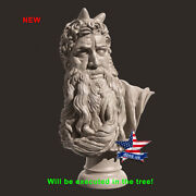 ❤️️bust Of Moses Michelangelo Buonarroti❤️️wood Carved Sculpture Statue Figure