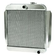 For Chevy Truck 55-57 Afco 80137-p-sp-y Street Rod Performance Radiator W Fan