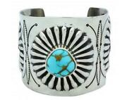 Arland Ben Bracelet Royal Blue Royston Turquoise Revival Navajo Made 7.25in