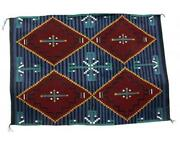 Shirley Sandoval Cheif Rug Navajo Handwoven 63 In X 45 In