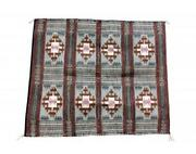 Lucy Wilson Two Faced Saddle Blanket Navajo Handwoven 32and039and039 X 40and039and039