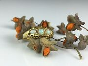 Late 19th Century Tri Stone Opal And Diamond Dress Ring In 18ct Gold Good Fire