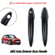 2 X Replaceable Gloss Black Car Door Handle Trim Applicable To Bmw Mini Cooper S