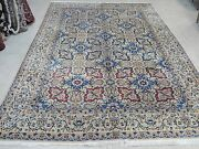 Antique Hand Knotted Rug 7and039and0396 X 11and039 Nain