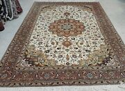 Antique Hand Knotted Rug 6and039and0396 X 10and039 Wool With Silk Foundition