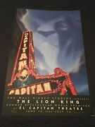 Rare Limited Edition The Lion King Artist Proof Poster El Capitan Signed