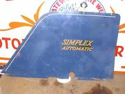 Simplex Automatic, Blue, White, Red, Left And Right Side/frame/engine Cover Set.