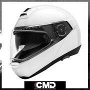 Schuberth C4 Pro Plainsolid Gloss White Modular Flip Up Front Motorcycle Helmet