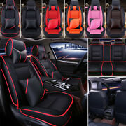 Waterproof 5-seats Cushion Pad Durable Full Car Seat Covers Protector Leather
