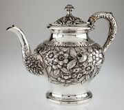 S Kirk And Son Hand Chased Repousse Tea Pot And Waste Bowl 474f Gorgeous