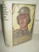 All Quiet On The Western Front Erich Maria Remarque War 1st Edition Wwi Movie
