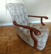Antique Tufted Rocking Chair - Mint