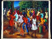 Wilner Cadet Naive Haiti Haitian Museum Gallery Collector Home Decor Office