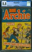 Archie Comics 4 Cgc 5.5 - Ow/w Pages
