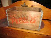 Vintage 1940and039s Drink Pepsi 8 Wooden Crate Washington D.c Made By Acme Box Co.