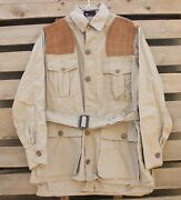 Vintage 1950's Red Head Brand Duck Hunting Jacket Tan Brown Fits The Sport Rare
