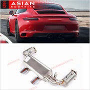 Valved Exhaust Catback Muffler With Downpipes For Porsche 991.2 Carrera Gts 3.0