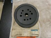 67-74 Corvette C2/c3--2 Groove Crank Shaft Pulley---gm 3911013bw--nos--ncrs