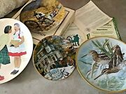 Vintage Decorative Plates - Set Of 4 - Norman Rockwell And Other 3