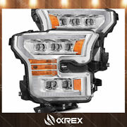 For 15-17 F150 Chrome Nova Projector Headlights W/ Activation Sequential Signal