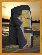 Tormenter Menand039s Side To Redfish 4x4 8 Way Stretch Board Shorts