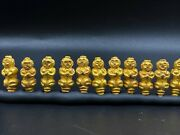 Old Antique Ancient Gold Human Figures Beads From Pyu Period South East Asia