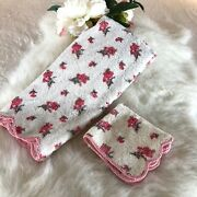 Porthault Hand Towel And Wash Cloth From The Estate Of Elizabeth Taylor